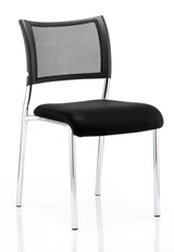 Melbourne Chrome Stacking Chair - Black