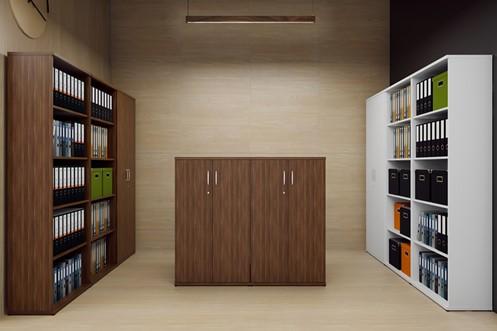 Nova Walnut 800mm Office Bookcase