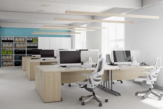 Solar Maple Corner Cantilever Workstation