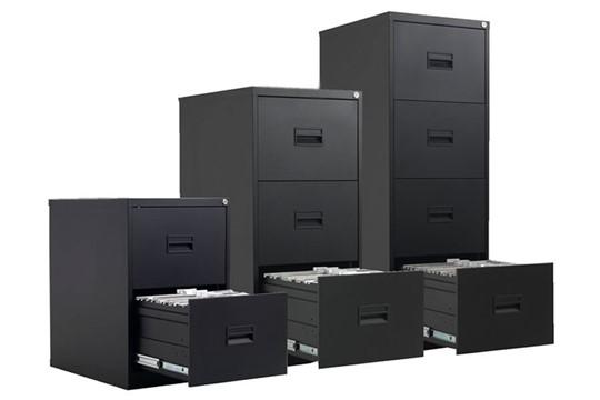 Mod Black Steel Filing Cabinets