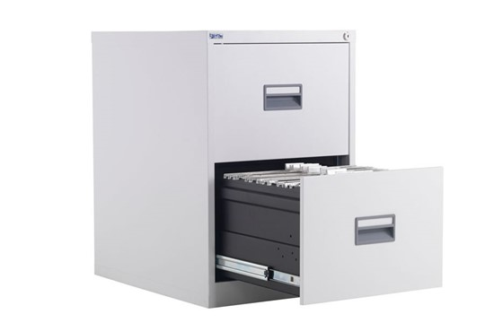 Mod White Steel Filing Cabinets