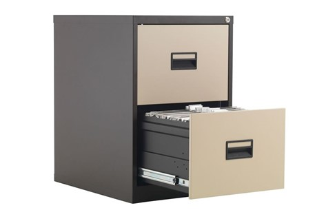 Mod Brown Steel Filing Cabinets