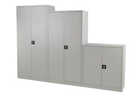 Mod Grey Steel 2 Door Cupboard - 1000mm