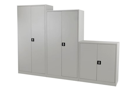 Mod Grey Steel 2 Door Cupboard