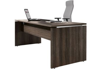 Mokka Executive Rectangular Desk - Royal Brown Oak 800 mm Wide