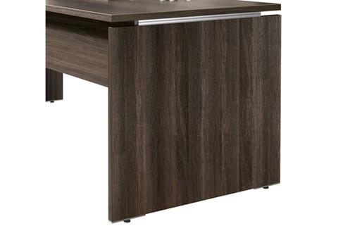 Mokka Rectangular Desk With Return