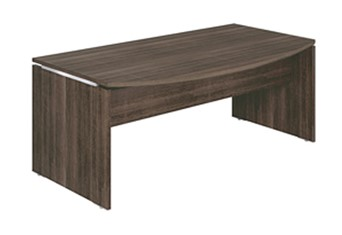 Mokka Executive Curved Desk - Royal Oak Brown