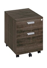 Mokka Two Drawer Pedestal - Royal Brown Oak