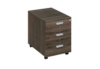 Mokka Three Drawer Pedestal - Royal Brown Oak
