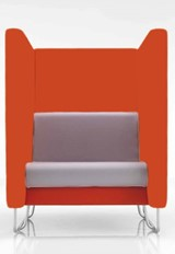 Eden High Back Chair - Orange Orange