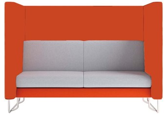 Eden High Back Sofa - Orange Orange