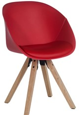 Pyramid Padded Tub Chair - Red
