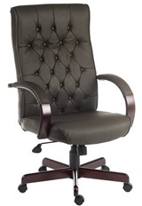 Warwick Leather Office Chair - Brown