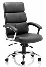 Gloucester Leather Office Chair - Black