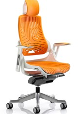 Zephyr Elastomer Chair - Orange