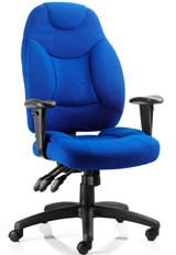 Thor High Back Chair - Blue Fabric