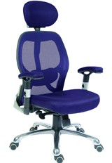 Cobham Luxury Mesh Back Office Chair - Blue