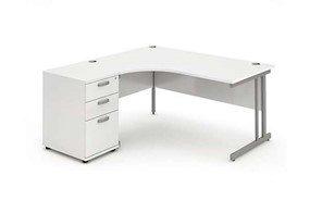 Polar White Cantilever Workstation