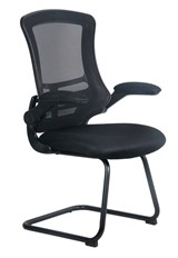 Alabama Mesh Visitor Chair - Black