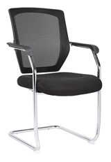 Texas Mesh Visitor Chair - Black