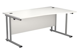Hawk White Wave Cantilever Desk
