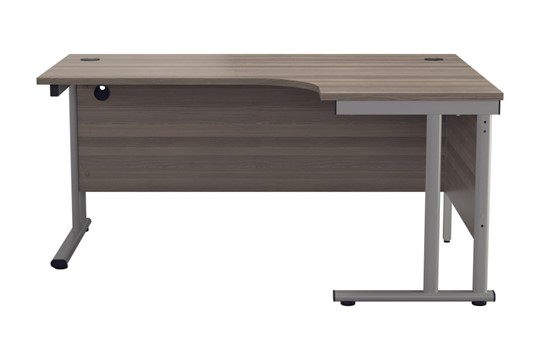Kestral Grey Oak Cantilever Corner Workstation