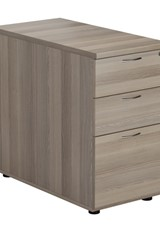 Kestral Grey Oak 3 Drawer Desk High Pedestal