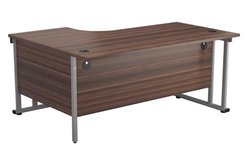 Kestral Dark Walnut Promo Desk And Pedestal