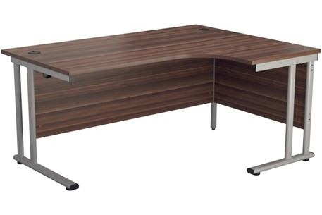 Kestral Dark Walnut Cantilever Corner Workstation