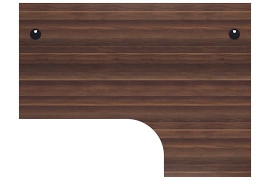 Kestral Dark Walnut Corner Panel Desk And Pedestal