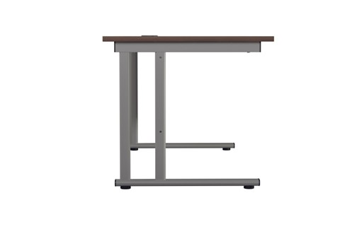 Kestral Dark Walnut Rectangular Cantilever Desk
