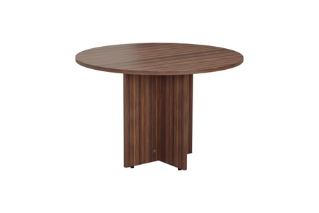 Kestral Dark Walnut Round Meeting Table