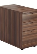 Kestral Dark Walnut 3 Drawer Desk High Pedestal