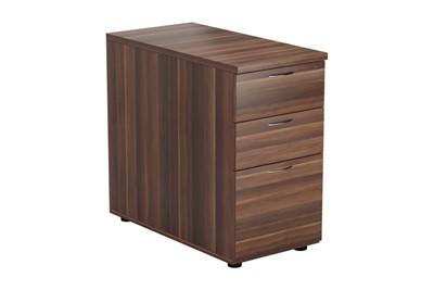 Kestral Dark Walnut 3 Drawer Desk High Pedestal