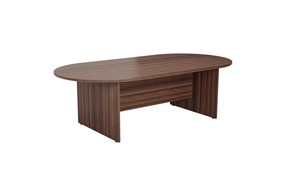 Kestral Dark Walnut D End Boardroom Table