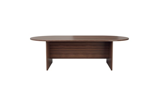 Kestral Dark Walnut D End Boardroom Table