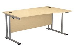 Kestral Maple Wave Cantilever Desk