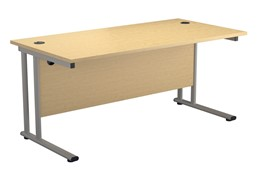 Kestral Maple Rectangular Cantilever Desk