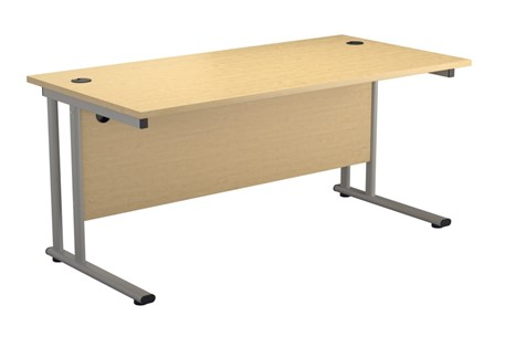 Hawk Maple Rectangular Cantilever Desk