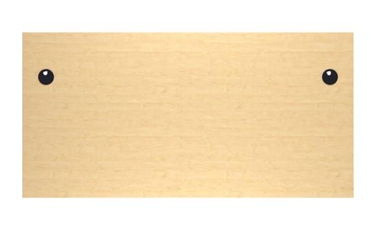 Kestral Maple Panel Promo Desk And Pedestal