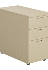 Kestral Maple 3 Drawer Desk High Pedestal