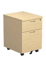 Kestral Maple 2 Drawer Mobile Pedestal
