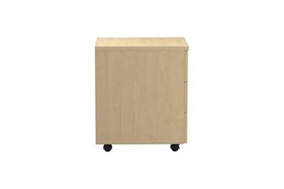 Kestral Maple 2 Drawer Mobile Pedestal