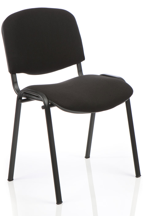 Blue Fabric Conference Chair Stackable 12 High