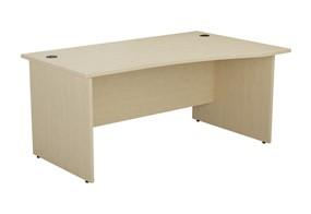 Kestral Maple Wave Panel Leg Desk