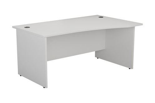 Kestral White Wave Panel Leg Desk