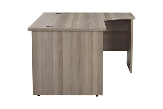 Kestral Grey Oak Panel Corner Workstation