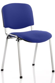 Chrome Conference Chair - Blue No