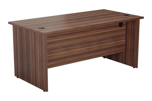Kestral Dark Walnut Rectangular Panel Desk
