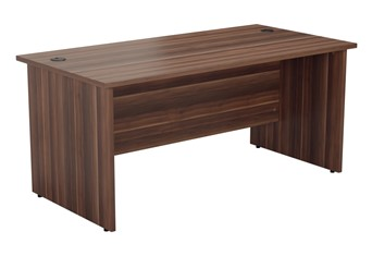 Kestral Dark Walnut Rectangular Panel Desk - 1200mm 600mm Deep